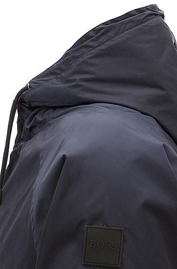 男士休闲长袖连帽夹克,  402_暗蓝色