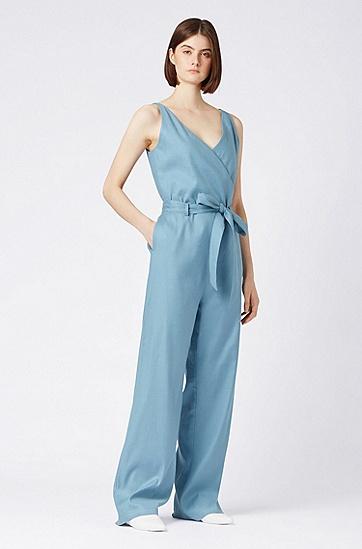 女士时尚连体裤,  439_亮蓝色
