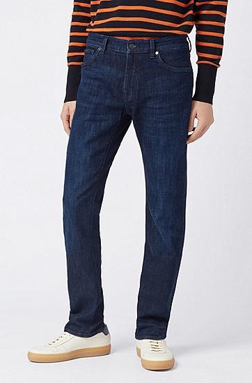 男士纯色休闲时尚牛仔裤长裤,  421_中蓝色