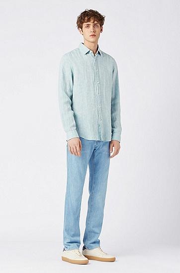 男士休闲牛仔裤,  440_水蓝色