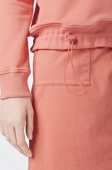 女士休闲 LOGO长袖卫衣,  835_浅橙色