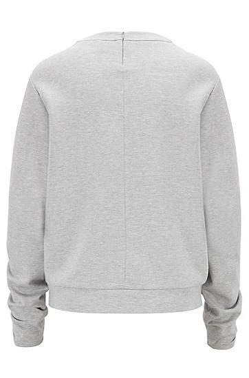 女士时尚休闲长袖卫衣,  040_银灰色