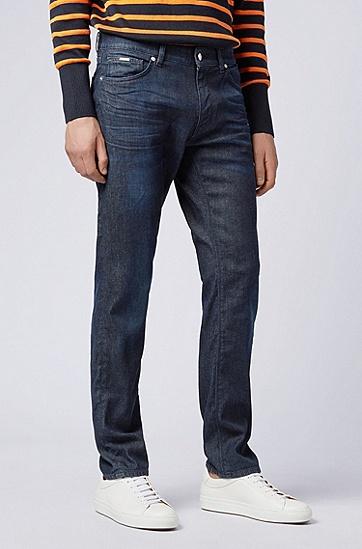 男士时尚休闲牛仔裤,  415_海军蓝色