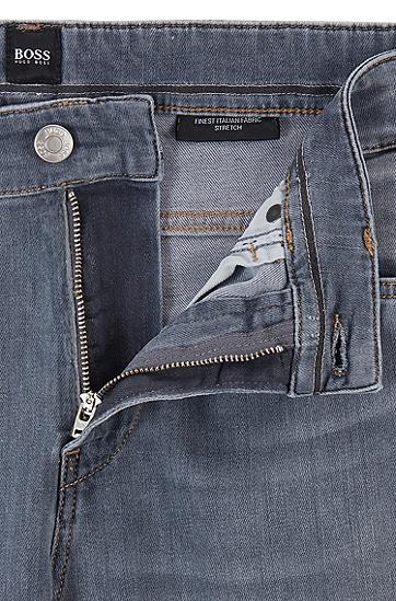 男士水洗色牛仔裤,  030_中灰色