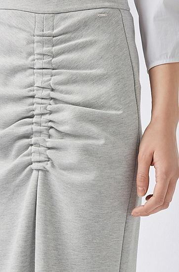 女士修身半身裙,  040_银灰色