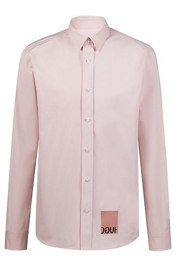 男士时尚休闲商务衬衫,  690_淡粉色