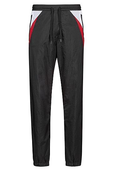男士休闲运动抽绳长裤,  001_黑色