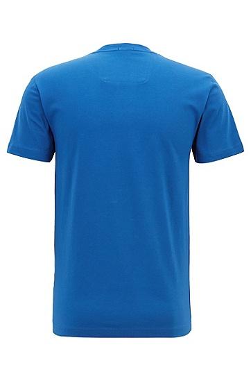 男士直筒棉质休闲短袖T恤,  463_淡蓝色