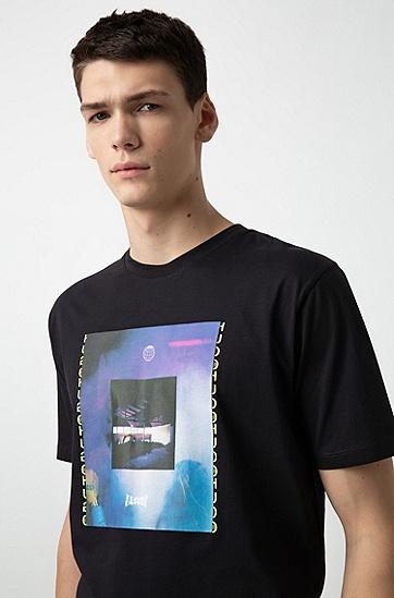 男士时尚休闲T恤,  001_黑色