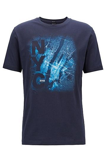 饰有纽约印花的Formula E T恤,  480_淡蓝色