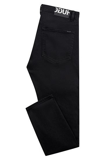 男士休闲时尚牛仔长裤,  010_炭黑色