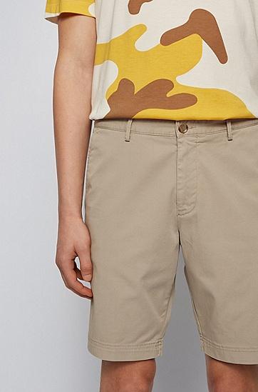 男士棉质时尚休闲短裤,  294_淡米色