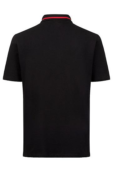 男士商务休闲短袖印花POLO衫,  001_黑色