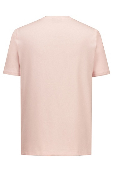 男士时尚休闲圆领短袖T恤,  683_浅粉色