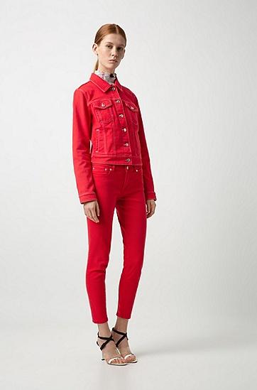 女士休闲长裤,  693_淡粉色