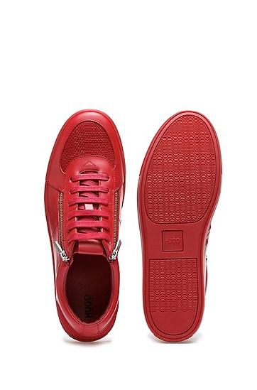 男士商务休闲运动鞋,  610_中红色