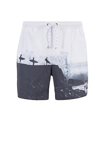 男士时尚休闲短裤,  121_淡白色