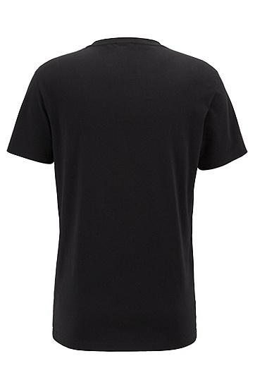 男士潮流休闲短袖T恤,  007_黑色