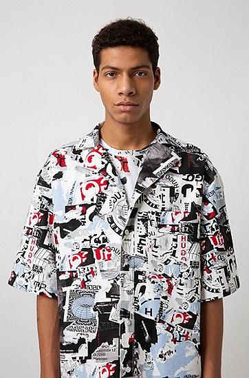 男士休闲衬衫,  102_天然色