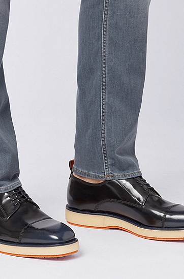男士休闲皮鞋,  401_暗蓝色