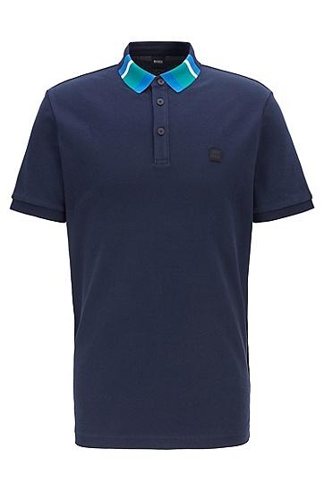 男款商务休闲潮流时尚短袖polo衫,  404_暗蓝色