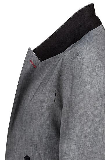 女士英伦休闲风衣,  040_银灰色