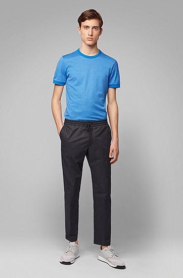 男士短袖T恤,  423_中蓝色
