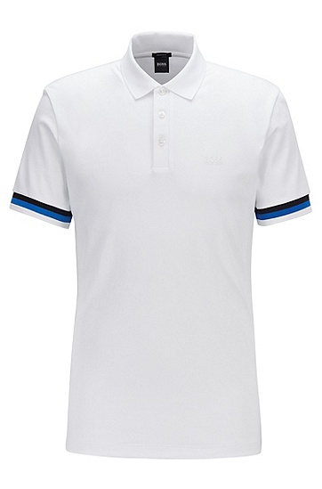 男士棉质休闲商务polo衫,  100_白色