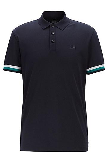 男士棉质休闲商务polo衫,  402_暗蓝色