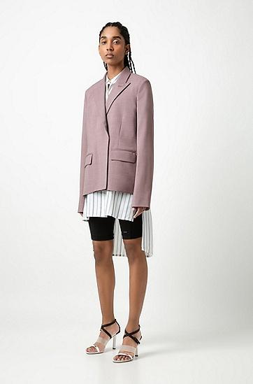 女士时尚休闲外套,  683_浅粉色