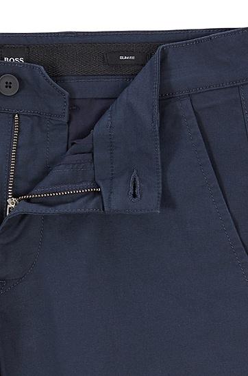 男士修身商务休闲西裤,  404_暗蓝色