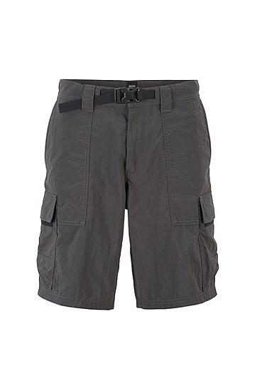 男士休闲工装中长短裤,  029_暗灰色