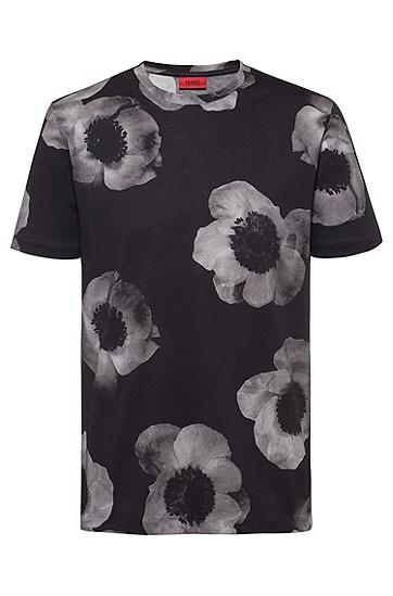 男士棉质休闲短袖T恤,  001_黑色