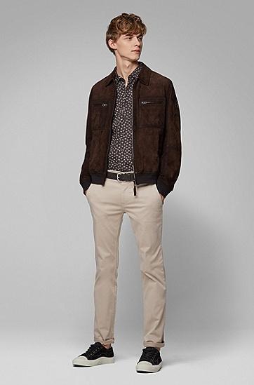 男士棉质休闲短袖衬衫,  001_黑色