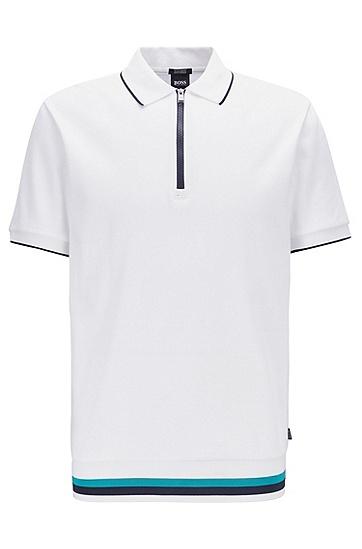 男士休闲修身商务Polo衫,  100_白色