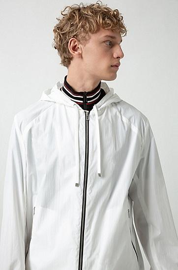 男士时尚休闲连帽长袖外套,  100_白色
