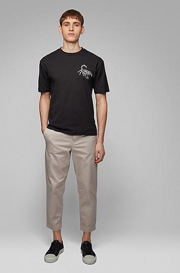 男士短袖T恤,  001_黑色