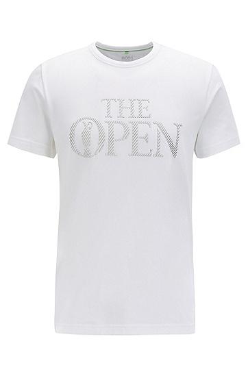 男款印花字母图案短袖T恤,  100_白色