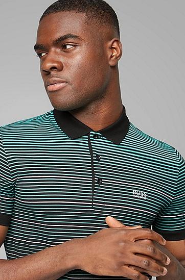 男休闲条纹POLO衫,  001_黑色