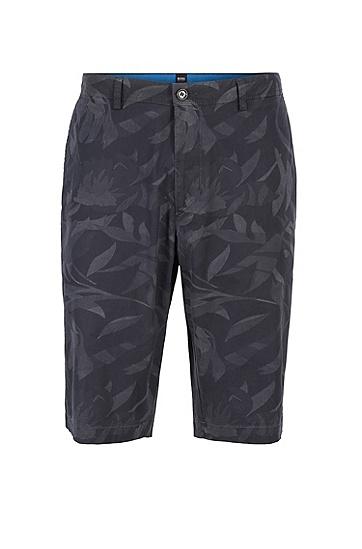 男款休闲直筒五分短裤,  402_暗蓝色