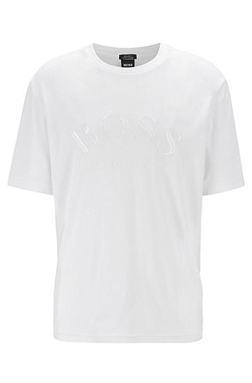 男士简约短袖T恤,  100_白色