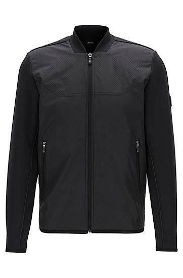 男士休闲夹克外套,  001_黑色