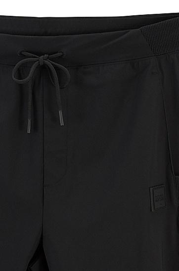 男款系带休闲长裤,  001_黑色
