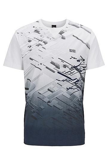 男士休闲短袖T恤,  100_白色