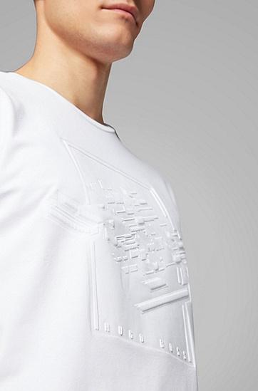 男款趣味印花短袖T恤,  100_白色