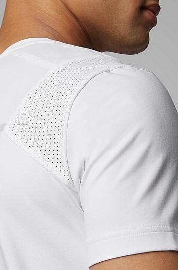 男士透气简洁T恤,  100_白色
