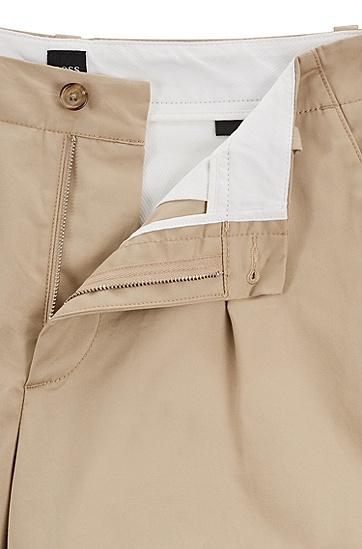 男士直筒中长裤,  275_浅米色