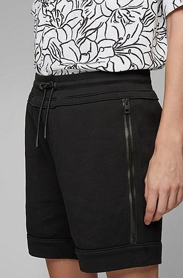 男士休闲直筒短裤,  001_黑色