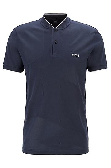 男士休闲简洁Polo衫,  410_海军蓝色