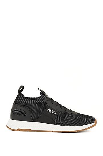 男士网状休闲时尚商务运动鞋低帮鞋,  001_黑色